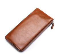 Wholesale new version mobile resale online - Mens Designer Wallet Men Long Wallet Fashion Version Youth Zipper Mobile Phone Bag Ultra Thin Purse New Arrival Hot Sale Hot