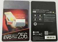 16 tablet tablet toptan satış-DHL teslimat 16 GB / 32 GB / 64 GB / 128 GB / 256 GB Orijinal EVO + Artı micro sd kart U3 / smartphone TF kart C10 / Tablet PC SDXC Depolama kartı 95 MB