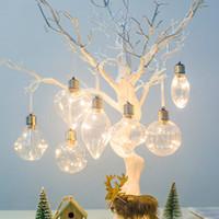 bulbos de ornamento venda por atacado-Enfeites de natal da árvore de natal pendurado bola de natal bola festa em casa decoração de casamento simulação lâmpada de iluminação pingente