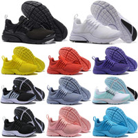 livre corrida preto vermelho venda por atacado-Nike Moda Prestos 5 V ULTRA Tênis Para Mulheres Dos Homens Amarelo Azul Cinza Roxo Rosa Prestos BR QS das Mulheres Sapatilhas EUA 5.5-11