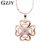 ingrosso pendente di trifoglio degli uomini-GZJY Fashion Necklace For Women Lover's Clover Champagne colore oro ciondolo collana di gioielli da sposa di fidanzamento