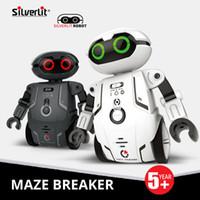 robô controlado venda por atacado-Silverlit inteligente Maze robô Crianças Multifunction Dança Voz elétricos Controle Remoto Brinquedos Crianças Meninos Inteligente RC Robot Holiday Gift 06
