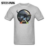 yuvarlak boyun yaka gömlek toptan satış-T Shirt Ark Survival Evolved Tasarımcı Tee Gömlek erkek Rahat Fit Kısa Kollu T-Shirt Popüler Erkekler Tshirt Yuvarlak Yaka O Boyun
