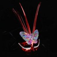 kelebek top maskesi toptan satış-Oturum   Uzun Püsküller Kelebek Parti Anonim Venedik Karnavalı Masquerade Ball S0025 Maske Sequins ile Seksi Dantel Maske