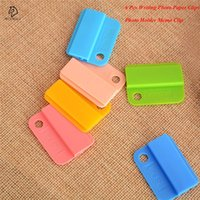 Wholesale plastic bookmark clips for sale - Group buy 6Pcs Candy Color Decorative Writing Photo Paper Clips School Supplies Photo Holder Memo Clip Office Accessories Drop Shipping