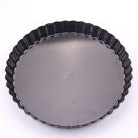 canlı kek toptan satış-Kek Pişirme Tavalar Siyah Canlı Alt Krizantem Pasta Tepsi 6 8 10 11 Inç Anti-Sıcak Giymek Giymek 18 5am4I1