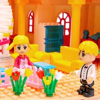 Wholesale toy insertions resale online - Children s toys wisdom sail Princess villa castle girl building blocks puzzle and insertion toys