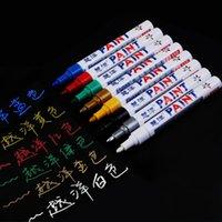 постоянная ручка окраски оптовых-Юэян 12 цветов Doodle Pen Paint Шина фломастеры Постоянная Водонепроницаемое Авто Шина Graffiti Жирной Pen Автоаксессуары