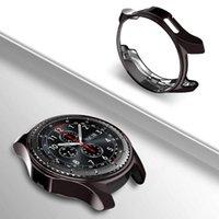 relógio inteligente ultra fino venda por atacado-TPU macio smart watch case capa para samsung galaxy gear s3 fronteira clássico watch 46mm ultra slim protetor silício case