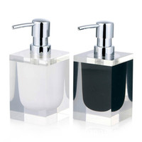ingrosso dispenser soap-170 ML Resin Soap Dispenser Pump Hotel Hand Soap Bottle Stainless Steel Jar Countertop Soap   Lotion Dispenser GGA2648
