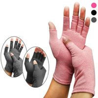 Wholesale fingerless cotton gloves women for sale - Group buy Yoga Open Fingers Gloves Fashion Women Men Cotton Elastic Hand Pain Relief Therapy Gloves Party Festival Gift WY491