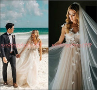 Wholesale butterfly bride dresses for sale - Stunning V Neck Spring Garden Wedding Dresses Spring Tulle Cheap Butterfly A Line Beach Plus Size vestido de noiva Bridal Gown Ball Bride