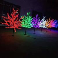 led ışıklar ücretsiz toptan satış-LED Noel Işık Kiraz Çiçeği Ağacı 864pcs LED Ampuller 1,8m Yükseklik İç veya Dış Kullanım Ücretsiz Kargo Drop Shipping Yağmur suyu