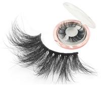 kutu kirpik uzun toptan satış-3D Vizon Kirpikler Doğal Yanlış Eyelashes Uzun Kirpik Uzatma Sahte Sahte Göz Lashes Makyaj Araçları Kutusu Ile RRA1306