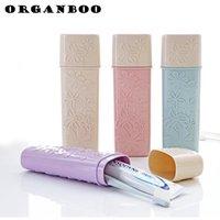 boîte à dentifrice achat en gros de-1 PC salle de bains se brosser les dents dentifrice organisateur brosse à dents boîte de rangement portable brosse à dents boîte voyage essentiel en plastique
