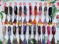 formulação de pulseira venda por atacado-DIB0 com embalagem 2,019 materiais corda estilo bracelete de tecido com palavras de costura e alça de mão borla jóias famosa marca para o presente de mulheres