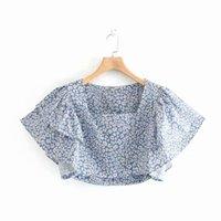 bolha hubble venda por atacado-Moda feminina Old birds 45-8897 festa de moda europeia e americana trouxe a blusa de manga hubble-bolha
