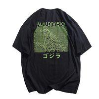 ropa de algodón japonés al por mayor-2019 Hombres Hip Hop Camiseta Monster Japonés Kaiju Harajuku Camiseta Streetwear Ropa Verano Camiseta de Manga Corta de Algodón Tops Tees
