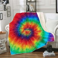 Wholesale Flower Color Blankets D Digital Printing Sofa Articles Household Double Layer Thickening Printing Colorful Blanket New Arrival qld L1