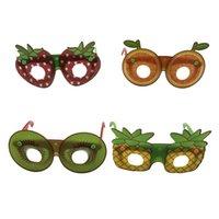 çizgi film gözlükleri toptan satış-Yaratıcı Meyve Şekilli Güneş Gözlüğü Moda Çocuk Dekoratif Gözlük El Yapımı DIY Parti Karikatür Gözlük Parti Favor TTA892