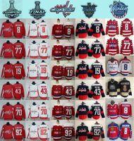 tj oshie jersey venda por atacado-2018 Estádio Series Washington Capitals 8 Alex Ovechkin 77 TJ Oshie Evgeny Kuznetsov Backstrom Holtby Wilson Inverno clássico Hockey Jerseys
