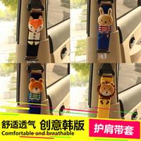 Wholesale cute seat covers resale online - Creative interior car accessories personalized decorative seat belt shoulder cover insurance belt set universal cute cartoon