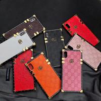mostrar fundas de teléfonos al por mayor-Paris Luxury show de moda Suave TPU PU Funda de cuero para teléfono iPhone XS MAX XR X 7 8 6 6S Plus Fundas Funda para Samsung S10 S9 S8 Nota 9 8