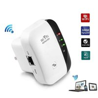 wifi drahtloser repeater plug eu großhandel-WiFi Extender 300Mbps Wireless 2.4GHz Internet, Network Extender mit WPS und Ethernet Port