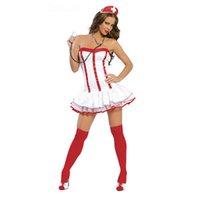 infirmière costumes adultes achat en gros de-JIZHENGHOUSE Nouvellement arrivée adulte costume infirmière sexy femmes Halloween cosplay costume infirmière robe