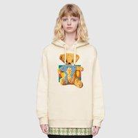 ingrosso orsacchiotti in vendita-2019 nuovo arrivo del progettista di marca Teddy Bear Felpa personalizzata con ricamo Alta Moda a maniche lunghe Womens Hoodie caldo di qualità di vendita di lusso con cappuccio B101886Y