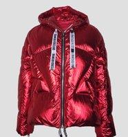 ağır bayanlar toptan satış-Moda Lady S Kırmızı Ceket Ağır Ceket Down Kadınlar Coat parkas