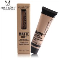 Wholesale miss rose makeup foundation resale online - DROP Miss Rose colors Face Concealer Makeup Natural Corrector Cream Professional Base Concealer Contour liquid Foundation Primer Palette