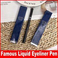 pluma larga al por mayor-Nuevo Maquillaje de Ojos A Prueba de agua Líquido Negro Eyeliner 1 ml Lápiz delineador de ojos de precisión Maquillaje maquiagem Pluma de larga duración