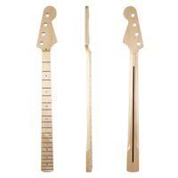 osso incrustado venda por atacado-20 Fret 4 String P Guitarra Baixo Canadense Bege Pescoço com Abalone Shell Inlay e Osso Porca para Precision Bass