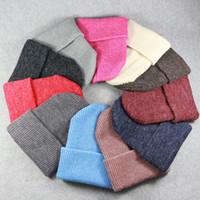 tampão bonito das mulheres venda por atacado-Chapéus de inverno para Senhoras Mulheres Crochet Malha Cap Skullies Gorros Caps Quente Moda Feminina Bonito Sólido Malha Elegante Chapéu LJJM2344-3