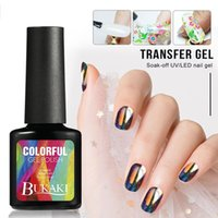 Wholesale nail art transfer foil glue resale online - Nail Polish Fast Dry Nail Art Polish Varnich Art Transfer Sticker Foils Glue Clear Adhesive French Manicure Tools