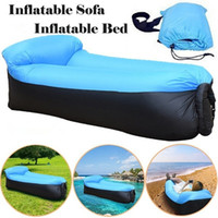 Wholesale camp bedding resale online - Trending Products Fast Light Infaltable Air Sofa Bed Sleeping Bag Ultralight Inflatable sofa Lazy bag Beach Sofa Laybag Air Bed