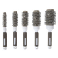 Wholesale nano ceramic hair online - 5 Sizes Hair Brush Nano Thermal Ceramic Ionic Round Barrel Comb Hairdressing For Hair Salon Styling Drying Curling Tool