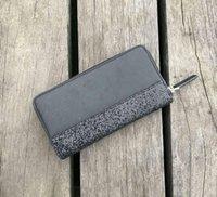 Wholesale wristlets resale online - Brand Designer Women glitter wallets hot sale designer coin purs Wristlets card holders