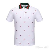 dessins de chemises pour hommes achat en gros de-Plus 3XL Taille Multi Polos De Broderie Homme Design De Mode Manches Côtelées Fendue Ourlet Stretch Polos Top Homme