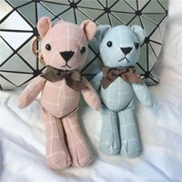 Wholesale wedding plush toys for sale - Group buy Mini Bear Stuffed Plush Toys cm Cute Plaid Teddy Bears Pendant Dolls Gifts Birthday Wedding Party Decoration XD23277