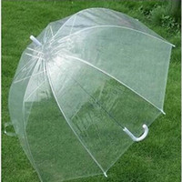 Wholesale clear umbrellas for wedding for sale - Group buy Romantic Clear Bubble Umbrella Transparent Dome Umbrella Cherry Blossom Wedding Decoration Umbrellas Waterproof for Rain and Wind