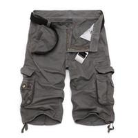 spandex calças quentes mais tamanho venda por atacado-Camuflagem Mens militar de carga Shorts novo Hot New Army Tactical Shorts Men Cotton soltas de trabalho Calças curtas Casual Plus Size