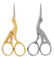 Wholesale scissors for tailoring resale online - Vintage Stork Shape Sewing Scissors Trimming Dressmaking Shears Cross stitch Carbon Steel Tailor Scissors for Sewing MMA2599