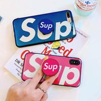 aynı telefon toptan satış-2018 Yumuşak TPU SUP Telefon Kılıfı Aynı Desen ile Genişletilebilir Kavrama SUP Cep Telefonu Tutucu için iphone XS XR