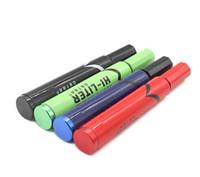 ingrosso legno di pioppo-alta qualità hi litro penna marcatore tubo stash fumare tubo metallico Sneak A Toke Click N Vape Pipe