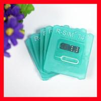 Wholesale sim card for unlocked resale online - New R SIM R Sim14 RSIM14 R SIM RSIM Unlock iphone XS MAX IOS12 X ICCID Unlocking Sim Unlock Card R SIM14