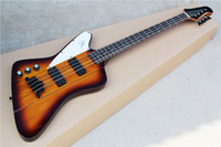 Wholesale left handed basses bodies for sale - Group buy Factory Custom Left Handed String Orange Electric Bass Guitar with Neck Thru Body Rosewood Fingerboard Black Hardwares Can be Customized