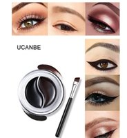 eye-liner durable achat en gros de-Dropshipping UCANBE Long Gel Double Eyeliner 4g Imperméable Longue Durée Crème Eye Liner 3 Styles Couleur En Option