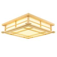sala de estudio de madera al por mayor-OOVOV LED Estudio de madera Luces de techo Cuadrados de moda Dormitorio Lámparas de techo Comedor Lámpara de techo